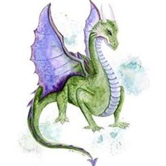 Green and Purple Dragon